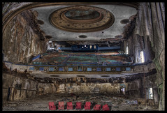 This ain't Theatrics, We Rock with Tactics (RiddimRyder) Tags: usa abandoned beauty canon hall dance chairs theatre decay stage urbanexploration rockroll legends ornate derelict renaissance abandonment hdr apocalyptic ue revival urbex 60d riddimryder