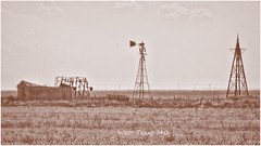 Abandoned in West Texas (Caren Mack Photography) Tags: ranch usa abandoned windmill architecture route66 texas farm oldhouse vega i40 2011 carenmack