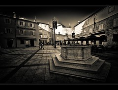 few minutes in KRK /Explore (Paul Lapinski) Tags: travel bw history architecture island croatia krk chorwacja apiski