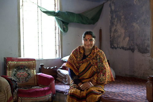 A shrimp farmer at her family home in Khulna, Bangladesh. Photo by Mike Lusmore/Duckrabbit, 2012.