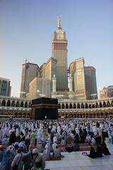 DSC05138_#1_10inchx12inch (yaz1434) Tags: tower clock sony landmark 16mm makkah kabah masjidalharam baitullah nex5