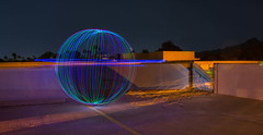 Planet Orb Under Attack [EXPLORED] (Matt G. Harris) Tags: blue art college wool night speed studio photography photo aperture nikon long exposure peace steel under attack orb iso ap shutter planet prep shutterspeed aperature d600 preparatory brophy orbing mgharris13