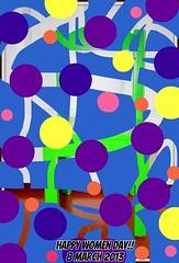 Happy Women's Day!!!! -  Buona festa della donna!!!! (Sole & Luna) Tags: art arte punti 8march 8marzo 2013 womenday festadelladonna