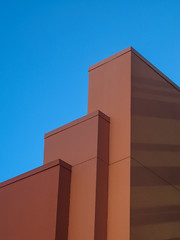 Building Abstract 2 (Nathan Reading) Tags: blue orange abstract building lines architecture buildings florida disney disneyworld