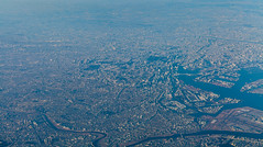Tokyo City - Aerial perspective (Hendrik Schicke) Tags: travel blue sky nature japan clouds plane canon airplane landscape photography flying amazing colorful earth air awesome horizon 5d rare canonef2470mmf28lusm birdseyeview birdseye beautyful birdsview aerialperspective highangleshot birdseyeperspective canon5dmarkii hightangle hendrikschicke
