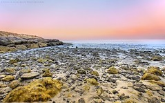 Formations on the beach (khalid almasoud) Tags: morning light beach rocks all photographer pentax tide low  calm southern rights absolutely beaches kuwait khalid reserved ae formations scattered february26    freely  greatphotographers  2013  photographyrocks k01 alkhairan 10mm20mm almasoud   thebestofday gnneniyisi perrrfect