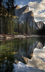 The Three Brothers (Charlotte Hamilton Gibb) Tags: california winter usa reflection landscape nationalpark places yosemite yosemitenationalpark yosemitevalley mercedriver threebrothers yosemitenp charlottegibbphotography charlottegibb