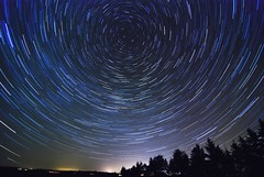 Startrails_stack of 80 pictures (thomaskoser) Tags: longexposure silhouette night way star evening long exposure northern milky startrails northernstar