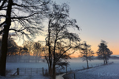 winter zonsopgang (Don Pedro de Carrion de los Condes !) Tags: winter mist sunrise nevel sneeuw wit winters hollands weiland landschap hek zonsopgang nijkerk donpedro sfeer vroeg zonsopkomst silhouetten weilanden filligrain beulenkamp dagaraas smorgensvroegnevel