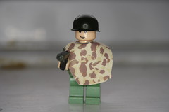 WWII USMC Soldier with poncho (zalbaar) Tags: world 2 usmc marine war lego pacific m1 american ww2 poncho customs garand m1911 brickarms zalbaar