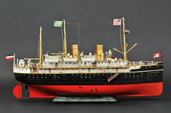 2012 Richard Claus collection Marklin ocean liner DEUTCHSLAND 1909 sold for   $ 149,500 (oldsailro) Tags: park old boy sea summer people sun lake playing beach water pool girl sunshine youth sailboat race vintage children fun toy boat miniature wooden pond model waves sailing ship child time yacht antique group boom regatta mast 500 hull spectators watercraft adolescence keel fashioned 2012richardclauscollectionmarklinoceanlinerdeutchsland1909soldfor149