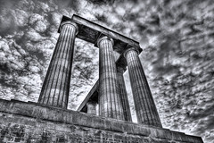 National Monument of Scotland (elementalPaul) Tags: sky bw monument clouds scotland edinburgh pentax tripod caltonhill hdr photomatixpro 5xp k10d pentaxk10d nationalmonumentofscotland