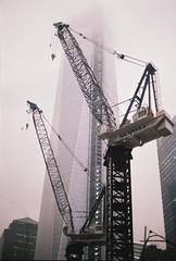 Ground Zero Construction NYC (EvanTaylorRVA) Tags: new york city nyc film brooklyn canon fuji superia richmond 400 a1