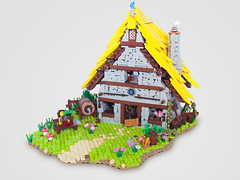 The Blue Dragon Inn (Nck V) Tags: castle team inn lego jigsaw vikings asterix moc mocathalon arsoairport