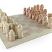 126. Carved Stone Chess Set