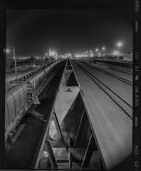 First_67_v02 (Beetwo77) Tags: urban bw film train cityscape fuji traintracks australia scan fujifilm neopan 100 fujinon acros freighttrain xseries pentax67 dodgey 55mmf4 xpro1 xmount xphotographers