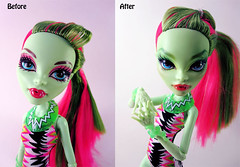 Swim Class Venus (nonaptime) Tags: ooak repaint reroot customdoll monsterhigh clawdwolf venusmcflytrap