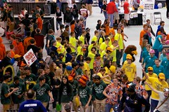 Dance! (repete7 (away for a few days)) Tags: canon virginia robot dance nik vcu robotics frc firstrobotics linedance firstroboticscompetition virginiacommonwealthuniversity siegelcenter nikdfine tamron18270 team401 canont1i virginiaregional hokieguard
