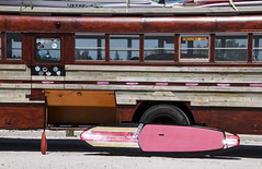 surfboard and bus (psyberartist) Tags: bus florida surfer transportation bradenton