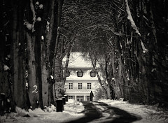 The Estate (Collin Key) Tags: winter bw snow architecture rural germany de schleswigholstein kogel collinkey