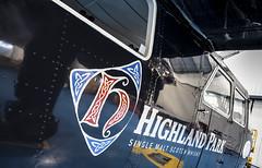 Britten-Norman Islander (Premysl Fojtu) Tags: plane logo airplane scotland orkney shiny aircraft aviation hangar scottish islander clean commercial airline whisky highlandpark kirkwal