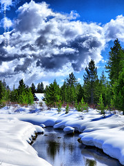 Rivulet (Waleed Ibrahem) Tags: life park blue trees wild cloud sun mountain mountains color tree green nature water beautiful weather clouds digital america landscape us natural state united id olympus diamond idaho national yellowstone states wyoming  ashton ibrahim zuiko waleed hdr swd rivulet      1260mm diamoonds zwd e620  aldokhail aldakhil wdakhil