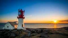 Lindesnes lighthouse sunset (Richard Larssen) Tags: sunset sun lighthouse sol landscape sony richard scandinavia fyr solnedgang trn lightroom oss lindesnes nex agder 1018mm larssen emount nex6