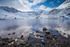IMG_4831.jpg (Olly Plumstead) Tags: blue winter brown white mountain lake snow black mountains clouds reflections easter march spring rocks angle snowy extreme wide peak reservoir snowdon ripples peaks tarn range foreground