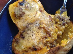 Apple Sausage Stuffed Squash (eye-shuh) Tags: food sausage squash maincourse uploaded:by=flickrmobile flickriosapp:filter=nofilter