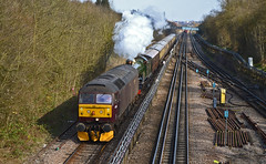 47245 + 5043 'Earl of Mount Edgcumbe - 5Z50 - Northolt (Matthew Price Photography.) Tags: camera england london castle train underground nikon martin diesel tube tracks loco jim spoon steam mount earl sulzer lul crompton edgcumbe 5043 northolt 33207 47245 d3100