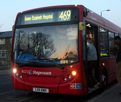 Stagecoach London 36272 on route 469 Abbeywood 06/04/13. (Ledlon89) Tags: bus london transport londonbus tfl abbeywood enviro200 stagecoachlondon alexanderdennisdart