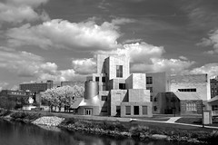 Iowa Advanced Technology Laboratories B&W (Cole Chase Photography) Tags: blackandwhite architecture canon iowacity frankgehry t3i universityofiowa iowaadvancedtechnologylaboratories