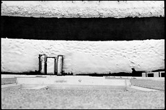 From the archives 1988: Out the window (wuwei2012) Tags: blackandwhite bw snow abstract sweden 1988 scanned abstraction tmax400 canona1 walkingpath outthewindow jrflla kallhll fabelvgen