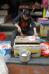 Meat Shop (China Chronicles) Tags: china city morning fish digital port canon coast photo asia market south xiamen seafood 50d