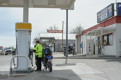 Grand View Gas (Trail Image) Tags: idaho motorcycle badmemory benjohnson kawasakiklr650