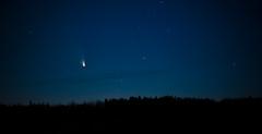 Comet Panstarrs, New Brunswick, Canada, 2013 (marc_guitard) Tags: park new sunset sky canada night stars star nikon dusk science brunswick fredericton astrophotography nikkor comet orbit f28 provincial 80200mm mactaquac panstarrs d700