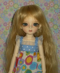 Nina taking advantage of the last few days of summer (keri4321) Tags: bubble bjd ninia dollndoll