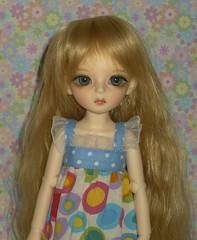 Nina taking advantage of the last few days of summer (keri4321) Tags: bubble bjd ninia dollndoll