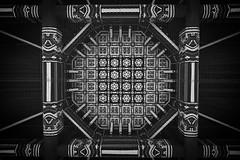 hypnotic (itawtitaw) Tags: wood white black detail lines blackwhite wire shrine lotus blossom painted wideangle korea carving symmetry ceiling seoul southkorea namsan canoneos60d tokinaatxpro1116mm28