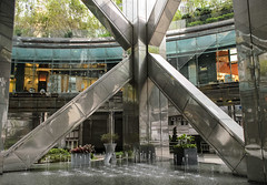 Central Column (Explored!) (@kennyc) Tags: water fountain glass architecture hongkong central atrium hongkongisland struts triangular supports thecenter landscapeorientation nikkor1855mmf3556vr d5100 yahoo:yourpictures=angles