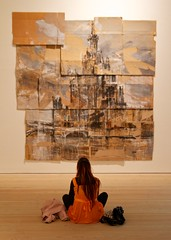 Saatchi Gallery (paulgmccabe) Tags: london art person chelsea sitting artgallery lone saatchi kingsroad challengefactorywinner fotocompetitionbronzewinner