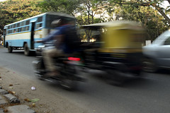 100 feet road traffic (Scalino) Tags: road india bus feet speed moving traffic bangalore royal fast bullet 100 rickshaw karnataka blured enfield bengaluru indiranagar cheesenaan 100feetroad