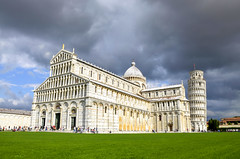 Piazza dei Miracoli - Pisa (fede_gen88) Tags: italy white storm tower clouds dark square nikon italia day torre cathedral bell gothic pisa campanile tuscany piazza duomo toscana leaning middleages miracoli piazzadeimiracoli piazzadelduomo santamariaassunta stormapproaching d5100