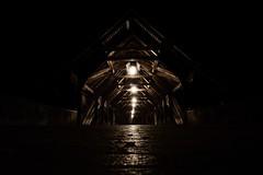 Old bridge (megorgar) Tags: bridge night schweiz switzerland wooden nacht lantern laterne aare 1803 olten holzbrcke nikcollection