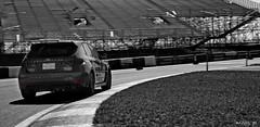The Rex (Art_mtl) Tags: blackandwhite bw black car race photoshop canon silver blackwhite track montreal subaru impreza wrx xsi 1585 efex 450d worldcars 1585is