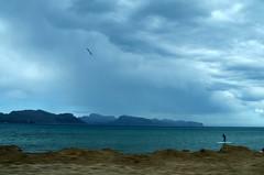 Mallorca (Margot in Love) Tags: blue sky sun beach weather strand spring sand mediterranean surfer ngc himmel blau mallorca sonne wetter frühling balearen balearicislands mittelmeer 2013 pentaxk5