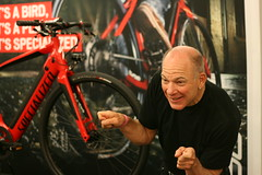 Bobke loves the Turbo (Richard Masoner / Cyclelicious) Tags: sanfrancisco red turbo specialized ebike pedalec