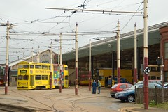 Jubilee 762, Rigby Road Depot (RyanTaylor1986) Tags: road jubilee depot preserved trams tramway blackpool 2007 rigby 714 crich tram762 exballoon