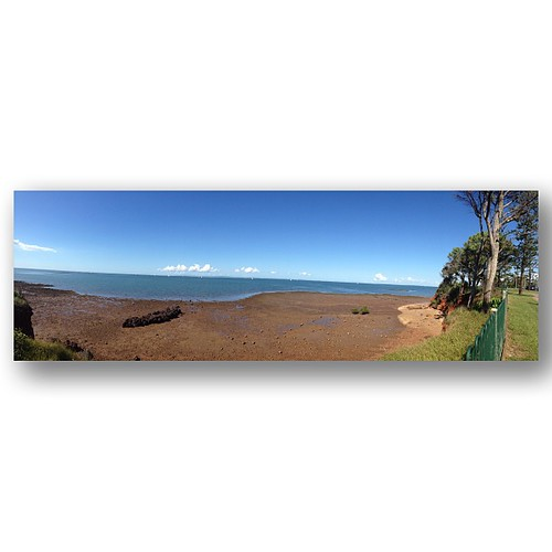 View of Moreton Bay from Scarborough, Qld. #redcliffe #vista #instagood #612bluesky #panorama #squaready