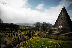 Cemetery in Stirling (fabiog86) Tags: travel cemetery canon eos scotland stirling viaggio cimitero panorma scozia 18200mm 450d fabiog